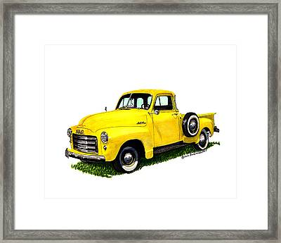 1956 Gmc Pick Up Framed Print by Jack Pumphrey