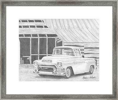 1956 Gmc Pickup Truck Art Print Framed Print by Stephen Rooks