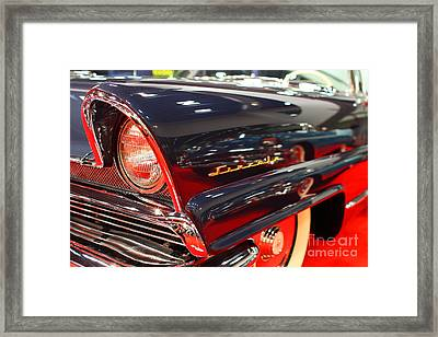 1956 Lincoln Premiere Convertible . Blue . 7d9249 Framed Print by Wingsdomain Art and Photography