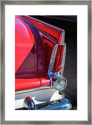 1956 Plymouth Tail Light -ck0233c Framed Print by Jill Reger