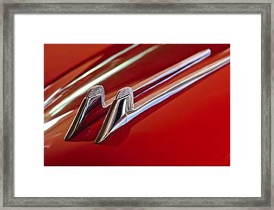 1957 Cadillac Eldorado Biarritz Hood Ornament Framed Print by Jill Reger