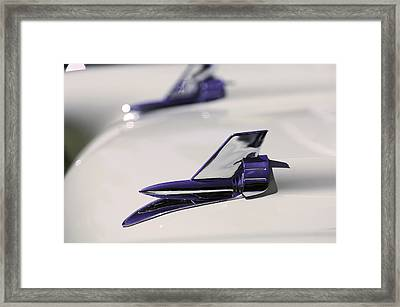 1957 Chevrolet 150 Handyman Wagon Hood Ornament Framed Print by Jill Reger