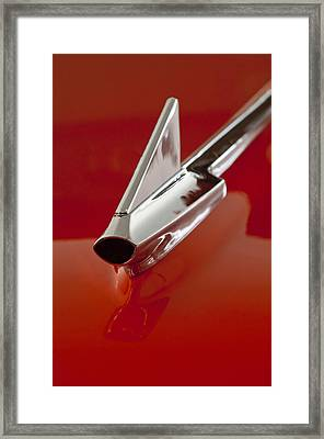 1957 Chevrolet Cameo Pickup Hood Ornament Framed Print by Jill Reger