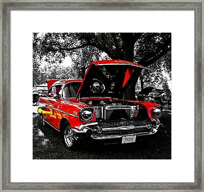 1957 Chevy Bel Air Framed Print by Chris Berry