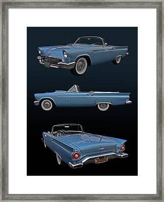 1957 Ford Thunderbird Framed Print by Bill Dutting