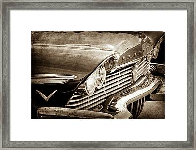 1957 Plymouth Belvedere Grille -0909s Framed Print by Jill Reger