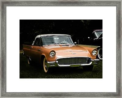 1957 Thunderbird Framed Print by Patricia Stalter