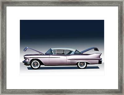 1958 Cadillac Framed Print by Bill Dutting
