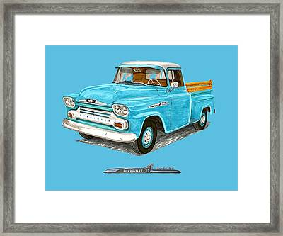 1958 Chevrolet Apache Pick Up Framed Print by Jack Pumphrey