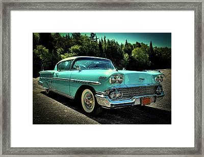 1958 Chevrolet Impala Framed Print by David Patterson