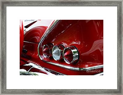 1958 Impala Tail Lights Framed Print by Paul Ward