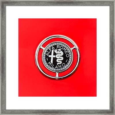 1959 Alfa-romeo Giulietta Sprint Emblem Framed Print by Jill Reger