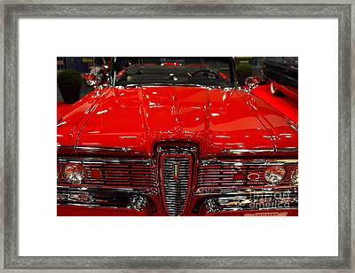 1959 Edsel Corsair Convertible . Red . 7d9235 Framed Print by Wingsdomain Art and Photography