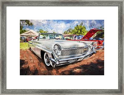 1959 Lincoln Continental Town Car Mk Iv Painted Framed Print by Rich Franco