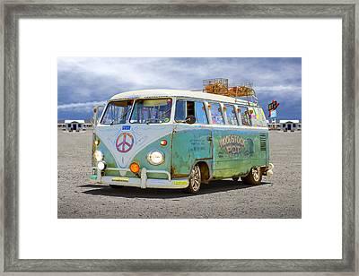 1959 Vw Bus Framed Print by Mike McGlothlen