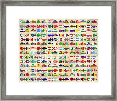 196 Fishes In News Framed Print by Keshava Shukla