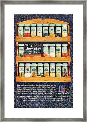 1960 70 Spice Rack Framed Print by R Muirhead Art