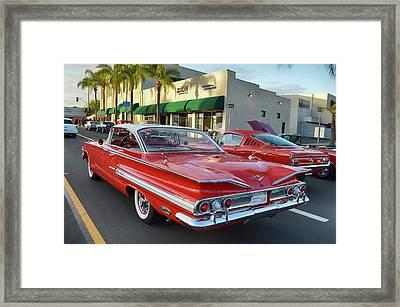 1960 Chevy Impala Framed Print by Bill Dutting