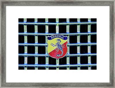 1960 Fiat Lusso Emblem Framed Print by Jill Reger