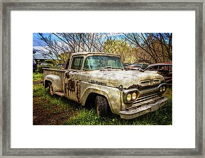 1960 Ford Truck Framed Print by Debra and Dave Vanderlaan