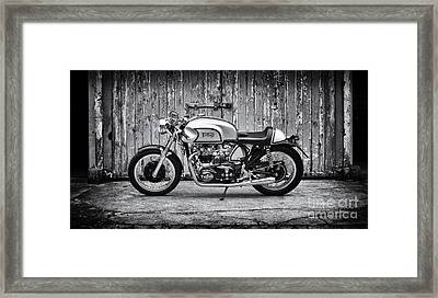 1960 Triton Cafe Racer Motorcycle Framed Print by Tim Gainey