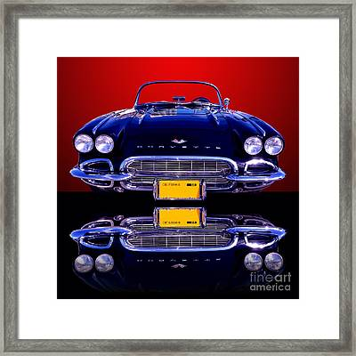 1961 Chevy Corvette Framed Print by Jim Carrell