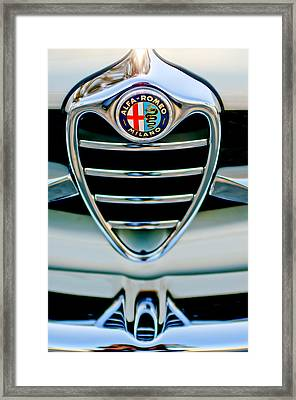 1962 Alfa Romeo Giulietta Coupe Sprint Speciale Grille Emblem Framed Print by Jill Reger