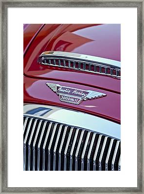 1962 Austin-healey 3000 Mkii Hood Emblem Framed Print by Jill Reger