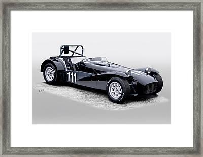 1962 Lotus Super Seven Vintage Racecar Framed Print by Dave Koontz