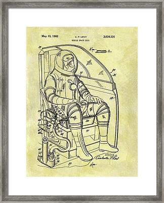 1962 Space Suit Patent Framed Print by Dan Sproul
