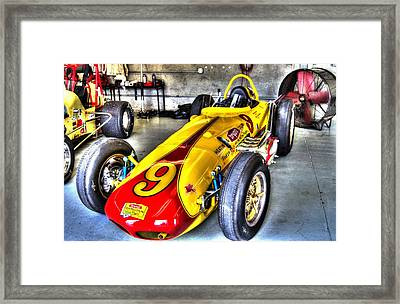 1963 Eddie Sachs Indy Car Framed Print by Josh Williams