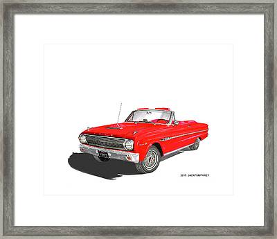 1963 Ford Falcon Sprint V 8 Framed Print by Jack Pumphrey