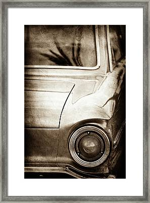1963 Ford Falcon Taillight -0566s Framed Print by Jill Reger
