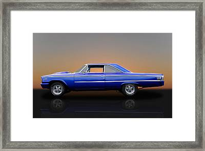 1963 Ford Galaxie 500 - 406 Tri-power Framed Print by Frank J Benz