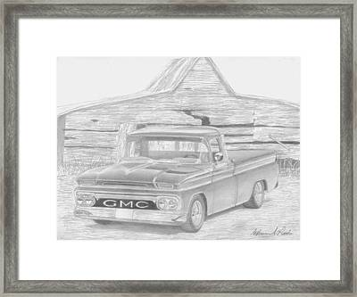 1963 Gmc Pickup Truck Art Print Framed Print by Stephen Rooks