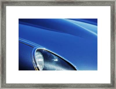 1963 Jaguar Xke Roadster Headlight Framed Print by Jill Reger