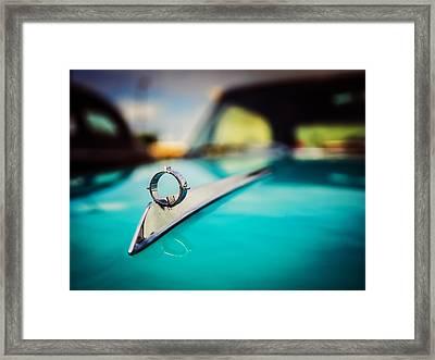 1964 Ford Galaxie 500 Xl Hood Ornament Framed Print by Jon Woodhams