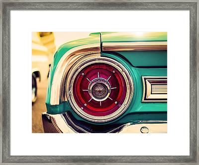1964 Ford Galaxie 500 Xl Tail Light Framed Print by Jon Woodhams