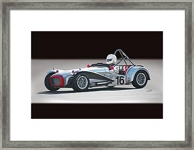 1964 Lotus Super 7 Vintage Racecar Framed Print by Dave Koontz