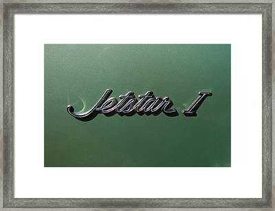 1964 Oldsmobile Jetstar Emblem Framed Print by Nick Gray