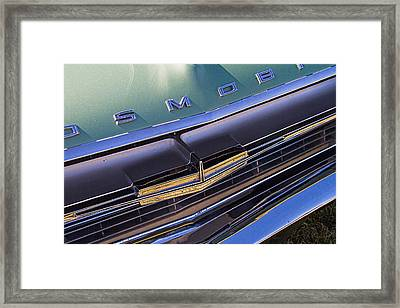 1964 Oldsmobile Jetstar Hood Ornament Framed Print by Nick Gray