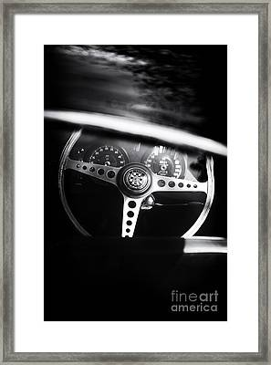 1965 E Type  Framed Print by Tim Gainey