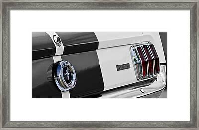 1965 Shelby Gt350 Taillights Framed Print by Jill Reger
