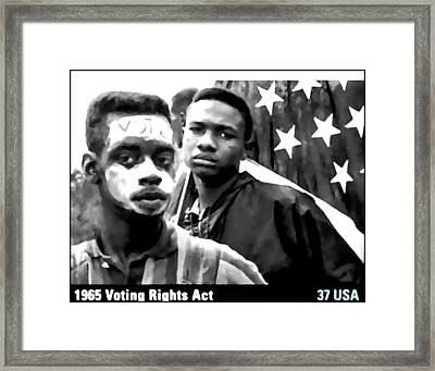 1965 Voting Rights Act Framed Print by Lanjee Chee