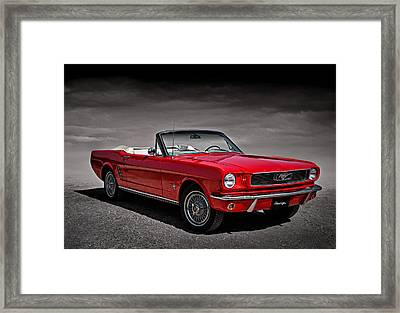 1966 Ford Mustang Convertible Framed Print by Douglas Pittman