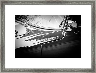 1966 Lotus Elan S3 Fhc Coupe Side Emblem -1227bw Framed Print by Jill Reger