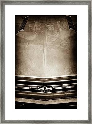 1967 Chevrolet Chevelle Super Sport Emblem -0028s Framed Print by Jill Reger
