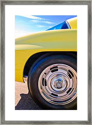 1967 Chevrolet Corvette Sport Coupe Rear Wheel Framed Print by Jill Reger