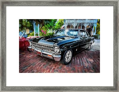 1967 Chevrolet Nova Super Sport Painted Bw 4 Framed Print by Rich Franco