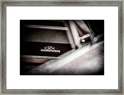 1967 Plymouth Belvedere Gtx Dashboard Emblem -0994ac Framed Print by Jill Reger